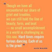 """These are hard times. Let us hold the line of beauty, shape and beat. And dance furiously whenever we lack the courage! ❤️  Alice Walker (1944) is an American feminist writer and activist, winner of the Pulitzer Prize for Fiction with the work """"The Color Purple"""" that inspired the homonymous film directed by Steven Spielberg in 1985. #onlineshopucp  - - - - - - Estes são tempos difíceis.  Vamos manter-nos alinhados com a beleza, a forma e o ritmo.  E dançar furiosamente sempre que o ânimo nos faltar! ❤️   Alice Walker (1944) é uma escritora e ativista feminista norte-americana, vencedora do Prémio Pulitzer de Ficção com a obra """"A Cor Púrpura"""" que inspirou o filme homónimo dirigido por Steven Spielberg em 1985. #lojaonlineucp"""