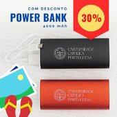 Para que não falte energia para aquela fotografia que vai marcar as tuas férias!  🎯POWER BANK em alumínio, disponível em 4 cores: prateado, azul, vermelho e preto.  Gravação a laser do logotipo @universidadecatolicaportuguesa   👍CARACTERÍSTICAS  📍Capacidade de carga = 4.000 mAh 📍Ligação Micro USB e USB 📍Cabo incluído 📍LEDs indicadores de estado de carga  📍Medidas = 9,5 X 4.1 X 2.3 cm  💢Agora com um desconto de 30%💢 👆Link na bio!  #lojaonlineucp